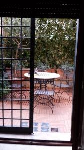 Mi terraza desde la cocina