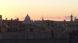 Vista de Roma desde la Piazza de Quirinale.