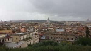 Vistas desde Villa Medici a punto de comenzar la tormenta.