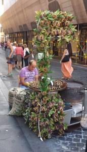 Castañero en Piazza Espagna