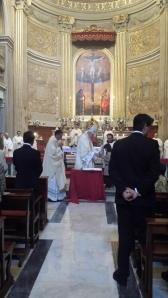 Misa oficiada por el Cardenal Carlos Amigo en la Iglesia de Santiago y Montserrat.