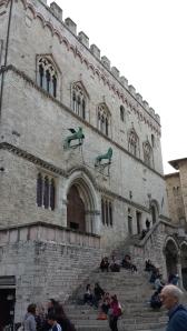 Palazzo dei Priori - sede del gobierno comunal en Perugia.