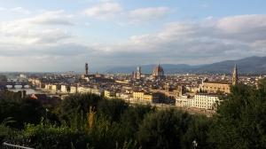 Vistas de Florencia desde la Plaza de Miguel Angel.