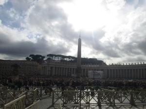 Obelisco Vaticano, en la Plaza de San Pedro del Vaticano.