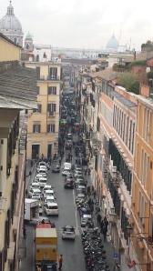 Vista de la Piazza Spagna desde Villa Borgheses.