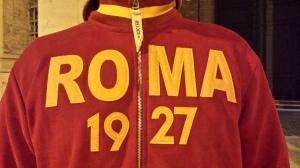 Camiseta tradicional de la Roma.