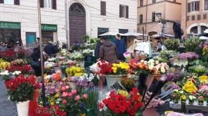 Floristería en Campo di Fiori.