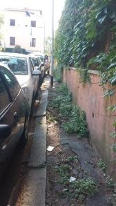 Calle en el barrio de Parioli, lo que vendría a ser Serrano.