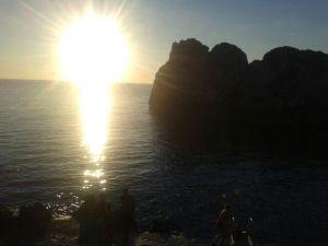 Puesta de sol en el faro de Anacapri.