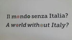 Cartel en la Expo de Milán