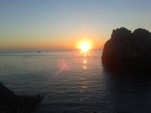 El mar desde Capri.